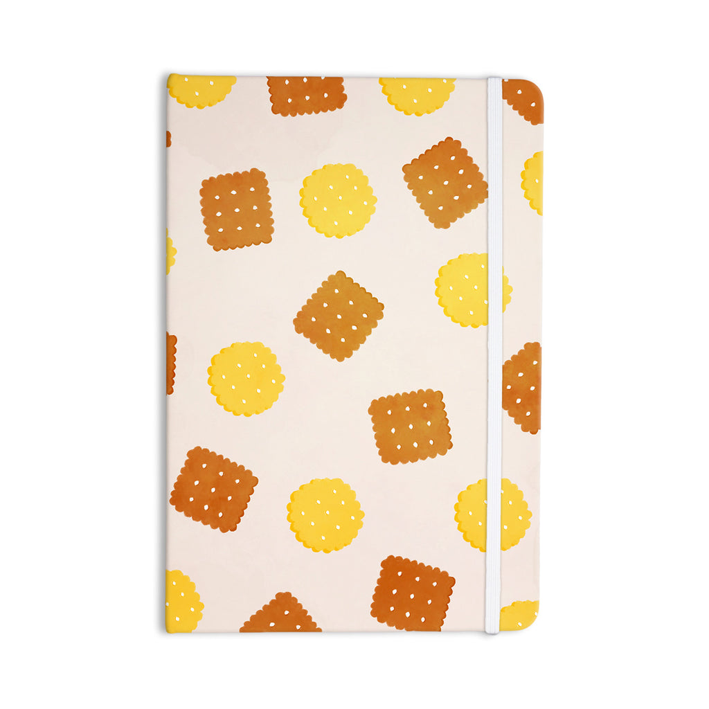 "Strawberringo ""Do You Love Biscuits?"" Brown Yellow Everything Notebook - KESS InHouse  - 1"