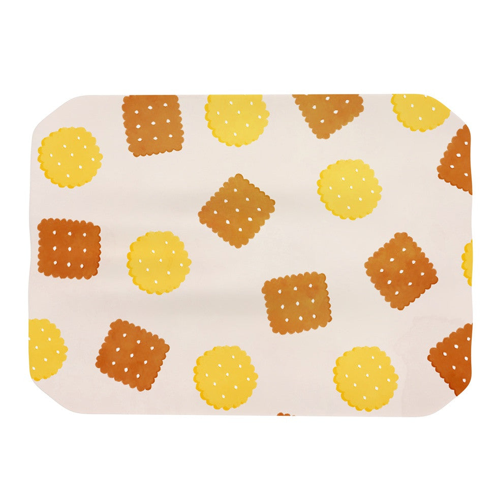 "Strawberringo ""Do You Love Biscuits?"" Brown Yellow Place Mat - KESS InHouse"