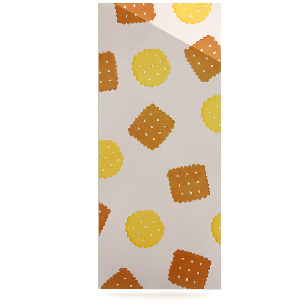 "Strawberringo ""Do You Love Biscuits?"" Brown Yellow Luxe Rectangle Panel - KESS InHouse  - 1"