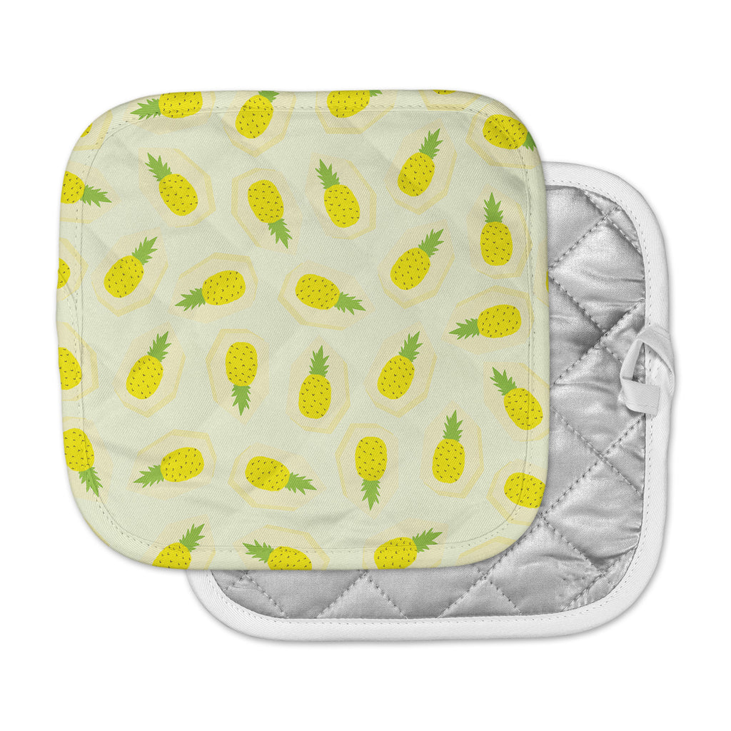 "Strawberringo ""Pineapple Pattern"" Yellow Fruit Pot Holder"