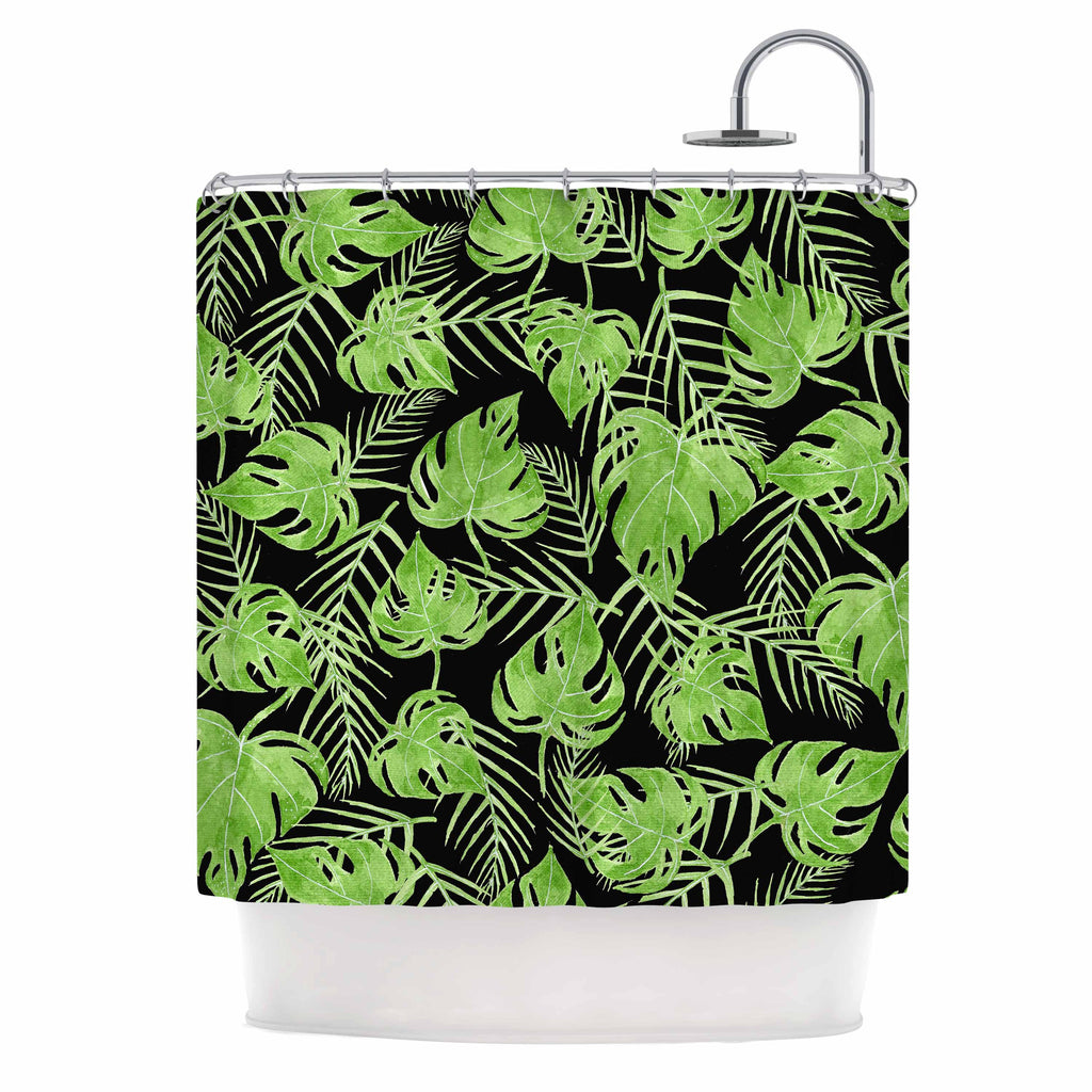 Green Leaves Shower Curtain by Strawberringo | KESS InHouse