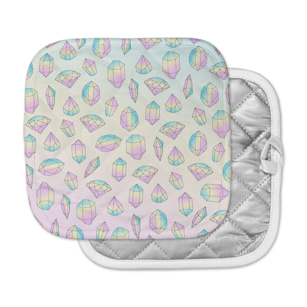 "Strawberringo ""Pastel Diamonds"" Pink Pastel Vector Pot Holder"
