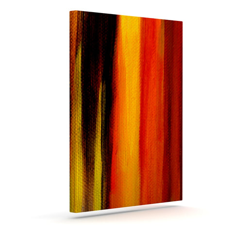 "Theresa Giolzetti ""Firework"" Yellow Orange Canvas Art - Outlet Item"