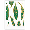 "83 Oranges ""Banana Leaf Gold"" Gold Green Digital Fine Art Gallery Print - KESS InHouse"