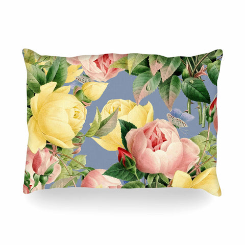 "83 Oranges ""Island Dreams"" Blue Pink Illustration Oblong Pillow - KESS InHouse"