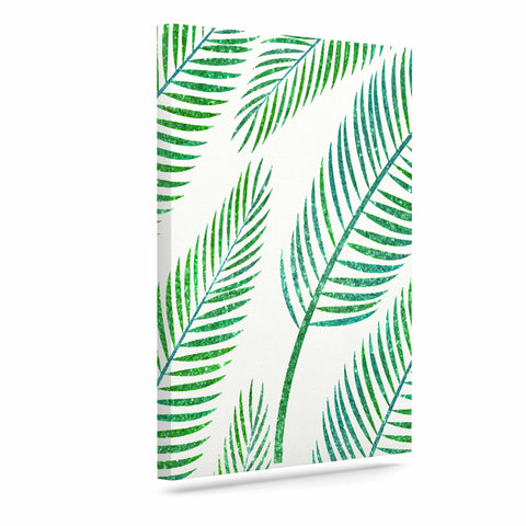 "83 Oranges ""Green Palm"" Teal Green Illustration Canvas Art"