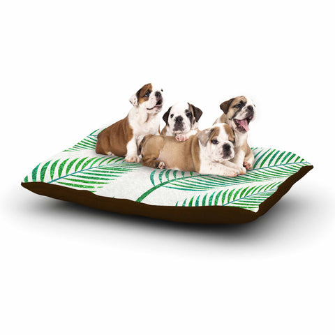 "83 Oranges ""Green Palm"" Teal Green Illustration Dog Bed"