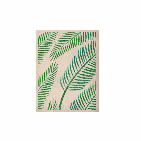 "83 Oranges ""Green Palm"" Teal Green Illustration KESS Naturals Canvas (Frame not Included)"