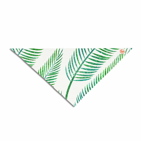 "83 Oranges ""Green Palm"" Teal Green Illustration Pet Bandana"