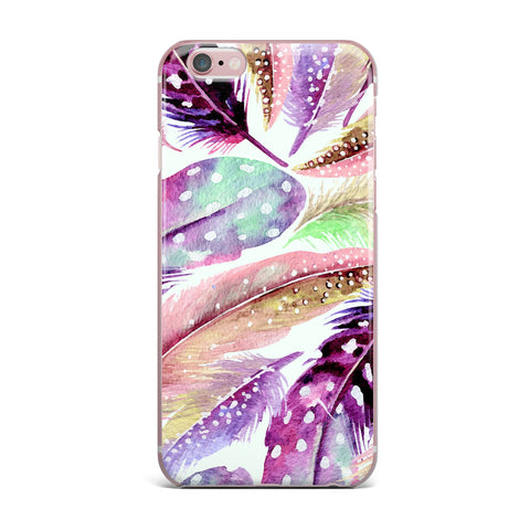 "83 Oranges ""Feathers"" Brown Purple Painting iPhone Case"