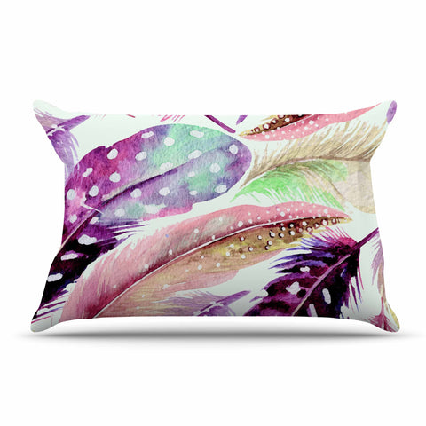 "83 Oranges ""Feathers"" Brown Purple Painting Pillow Sham"