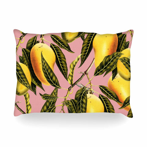 "83 Oranges ""Hello Sweetness"" Gold Yellow Illustration Oblong Pillow"