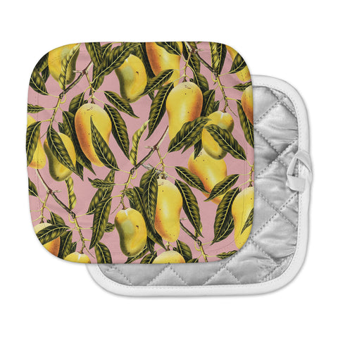 "83 Oranges ""Hello Sweetness"" Gold Yellow Illustration Pot Holder"