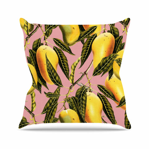 "83 Oranges ""Hello Sweetness"" Gold Yellow Illustration Throw Pillow"
