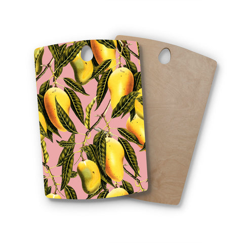 "83 Oranges ""Hello Sweetness"" Gold Yellow Illustration Rectangle Wooden Cutting Board"