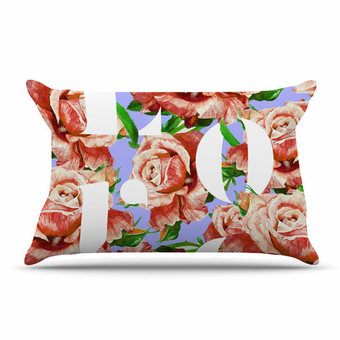 "83 Oranges ""In My Heart"" Lavender Coral Illustration Pillow Sham"