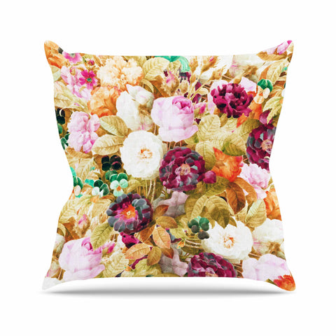 "83 Oranges ""Garden Of Eve"" Tan Purple Mixed Media Throw Pillow"