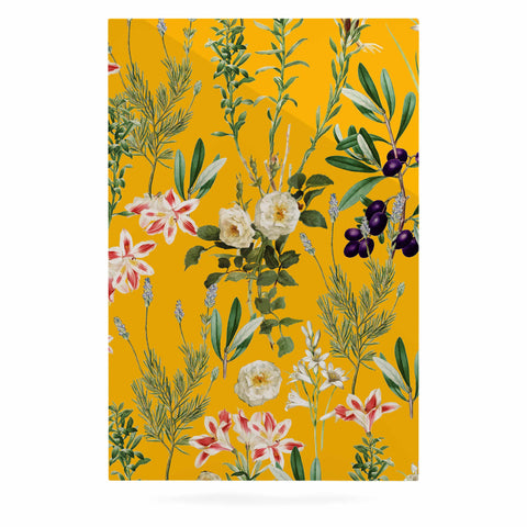 "83 Oranges ""Yellow Botanical Garden"" Yellow Olive Nature Floral Illustration Digital Luxe Rectangle Panel"