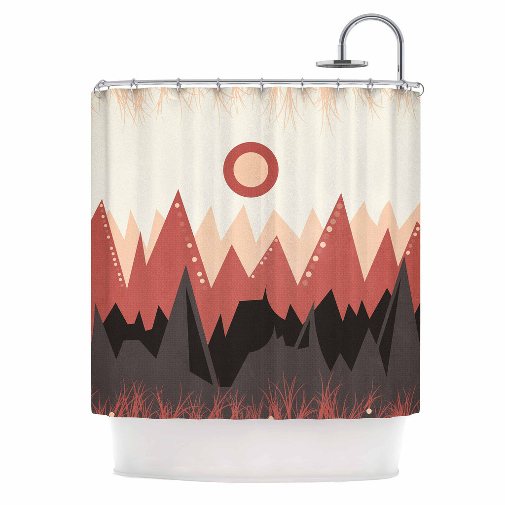 "Viviana Gonzalez ""Landscape A."" Brown Coral Shower Curtain - KESS InHouse"