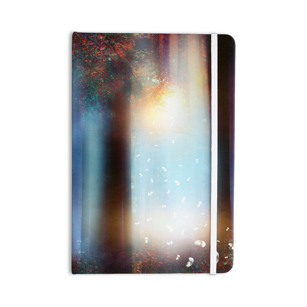 "Viviana Gonzalez ""Hope In Blue Part II"" Aqua Red Everything Notebook - KESS InHouse  - 1"