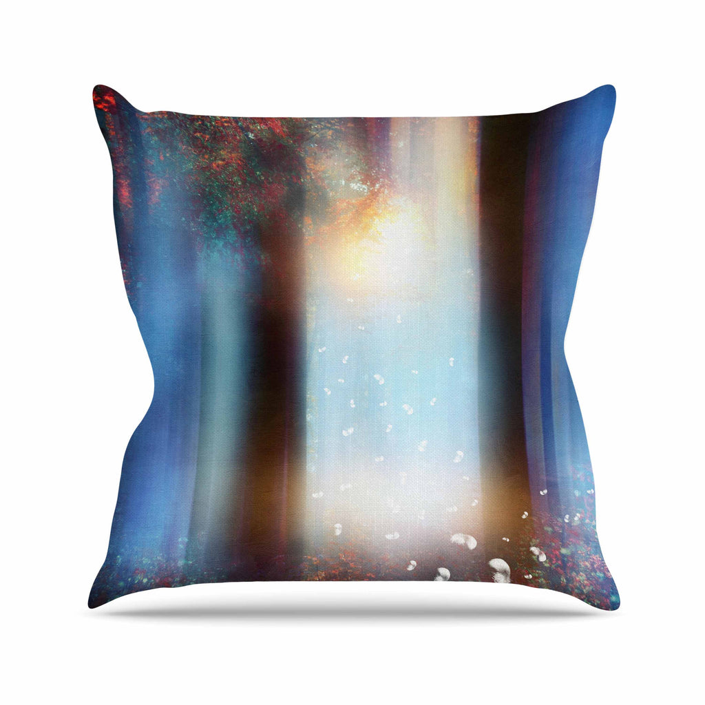 "Viviana Gonzalez ""Hope In Blue Part II"" Aqua Red Throw Pillow - KESS InHouse  - 1"
