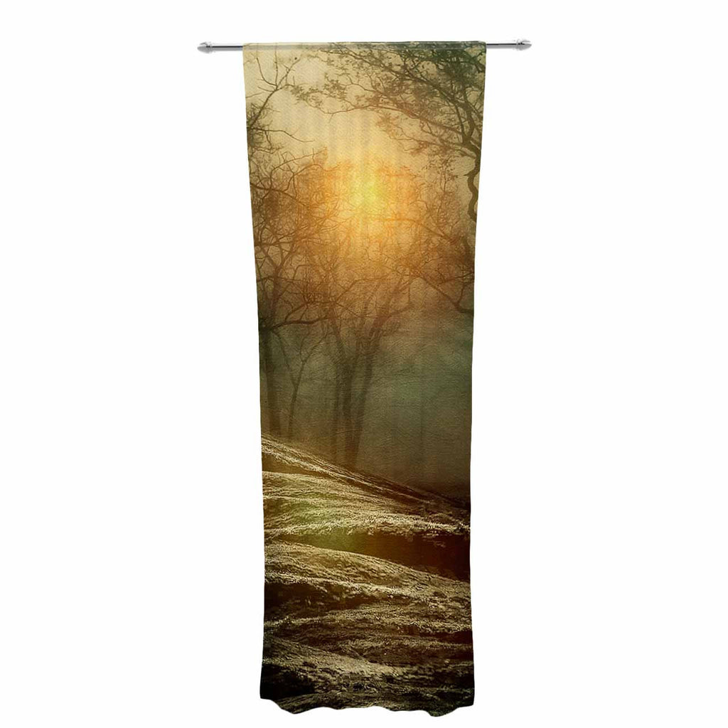"Viviana Gonzalez ""From Small Beginnings And Big"" Green Nature Decorative Sheer Curtain - KESS InHouse  - 1"