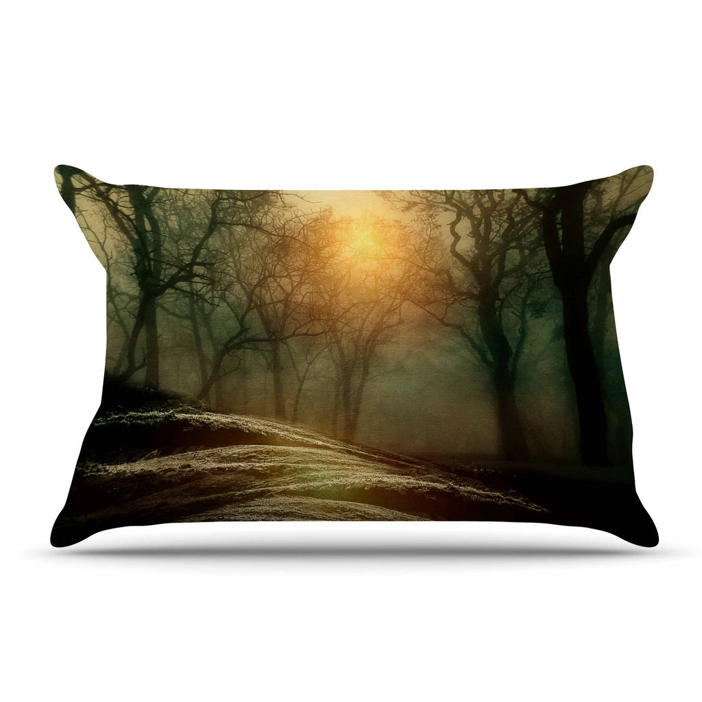 "Viviana Gonzalez ""From Small Beginnings And Big"" Green Nature Pillow Sham - KESS InHouse  - 1"