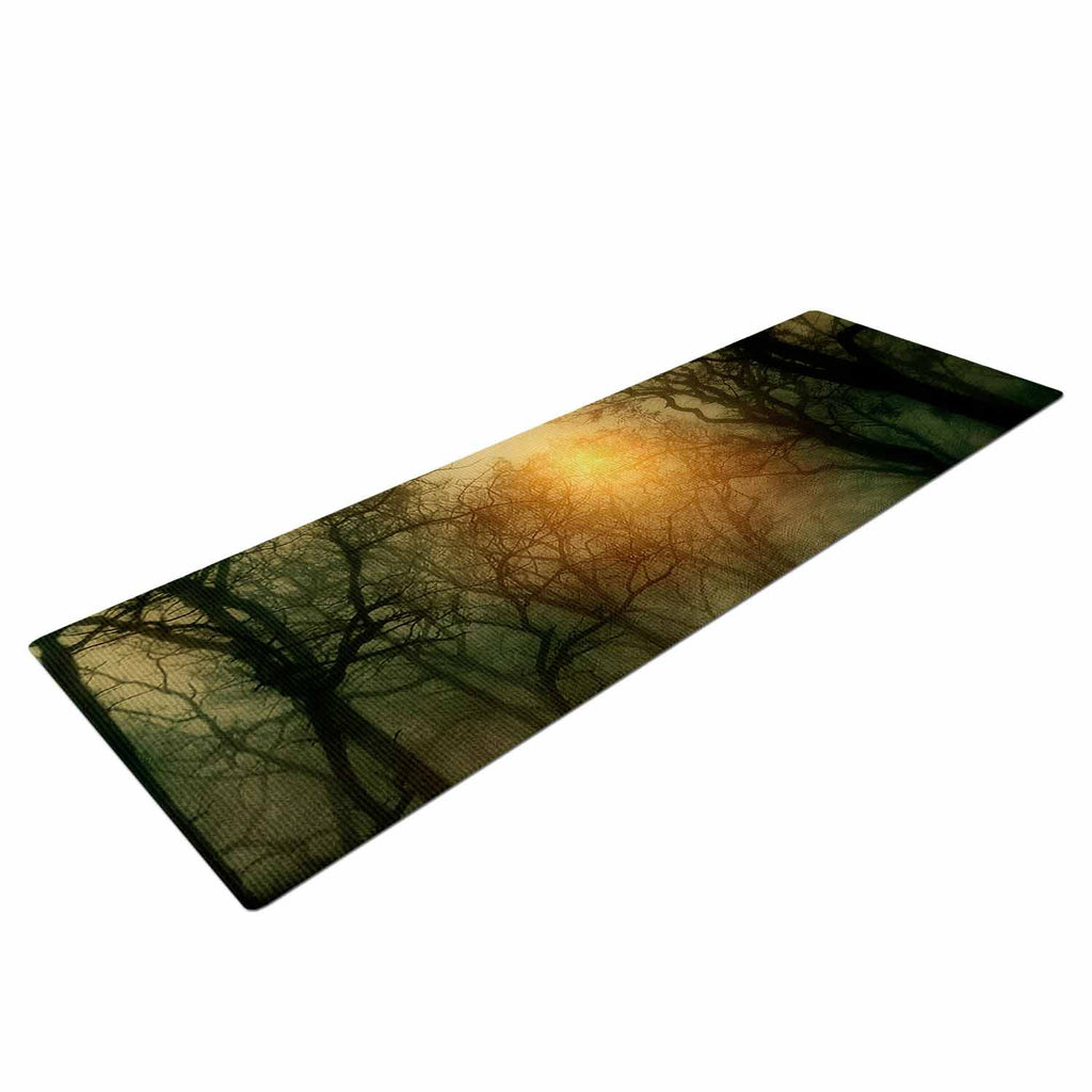 "Viviana Gonzalez ""From Small Beginnings And Big"" Green Nature Yoga Mat - KESS InHouse  - 1"