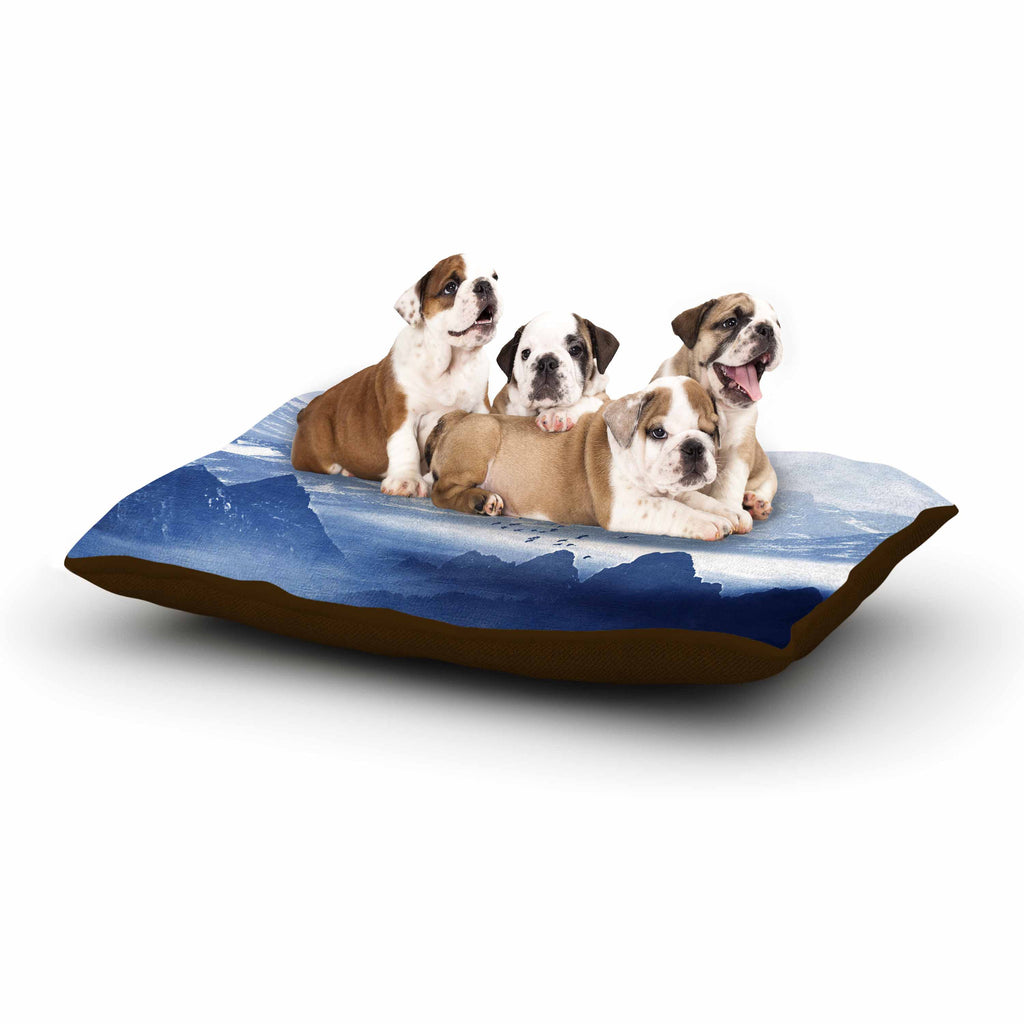 "Viviana Gonzalez ""Winter, Melody..."" Blue Nature Dog Bed - KESS InHouse  - 1"