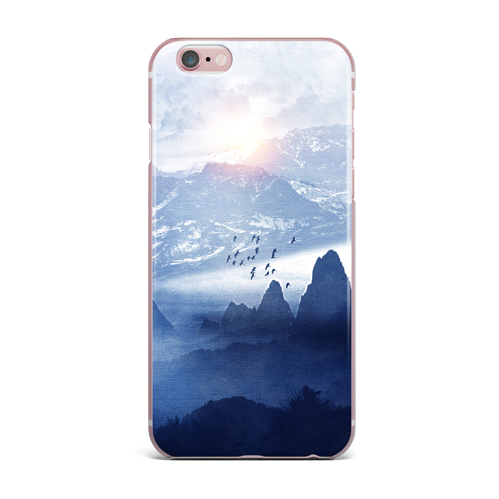 "Viviana Gonzalez ""Winter, Melody..."" Blue Nature iPhone Case - KESS InHouse"