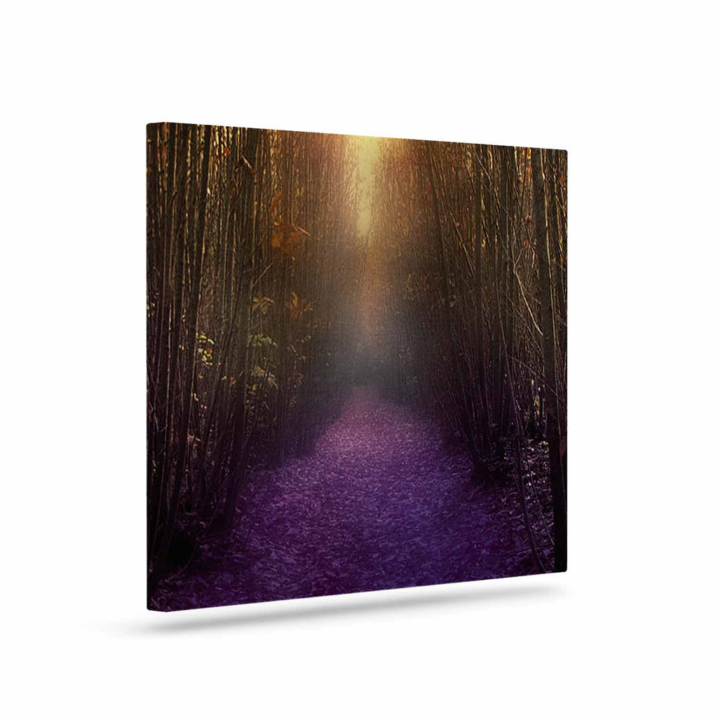 "Viviana Gonzalez ""Nostalgia"" Purple Digital Canvas Art - KESS InHouse  - 1"