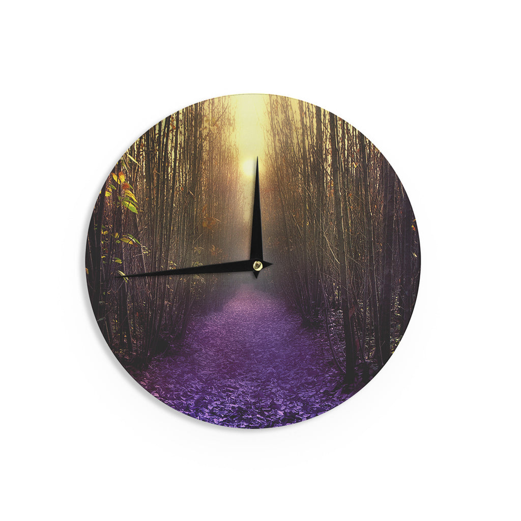 "Viviana Gonzalez ""Nostalgia"" Purple Digital Wall Clock - KESS InHouse"