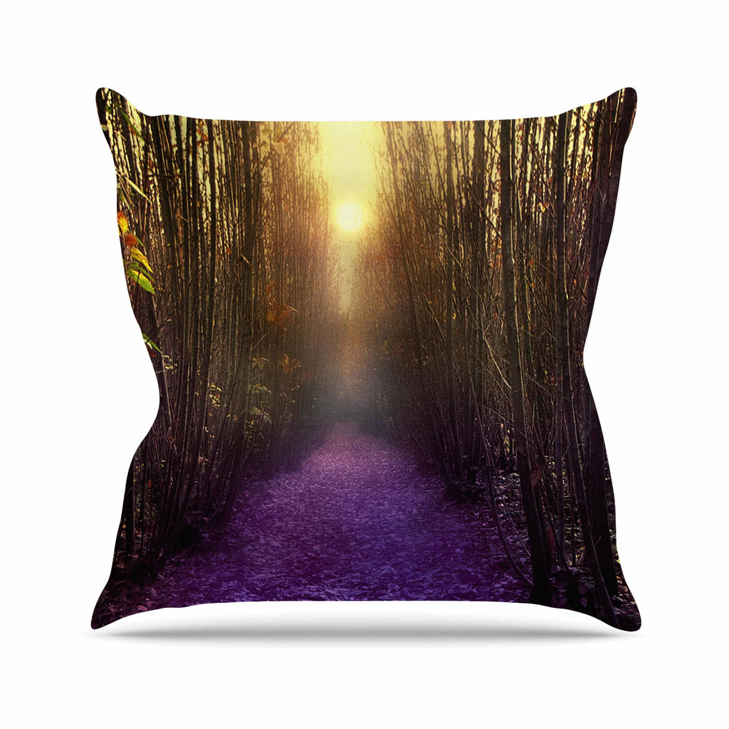 "Viviana Gonzalez ""Nostalgia"" Purple Digital Outdoor Throw Pillow - KESS InHouse  - 1"