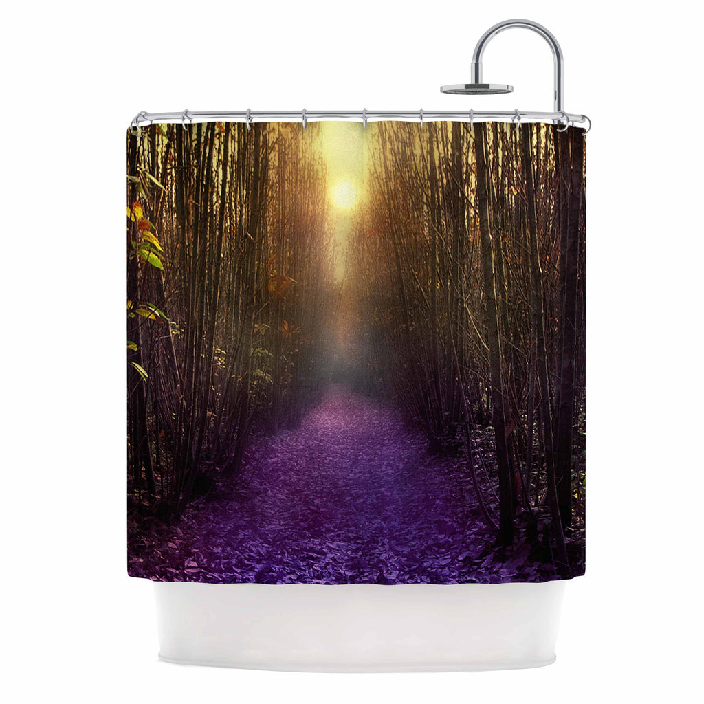 "Viviana Gonzalez ""Nostalgia"" Purple Digital Shower Curtain - KESS InHouse"