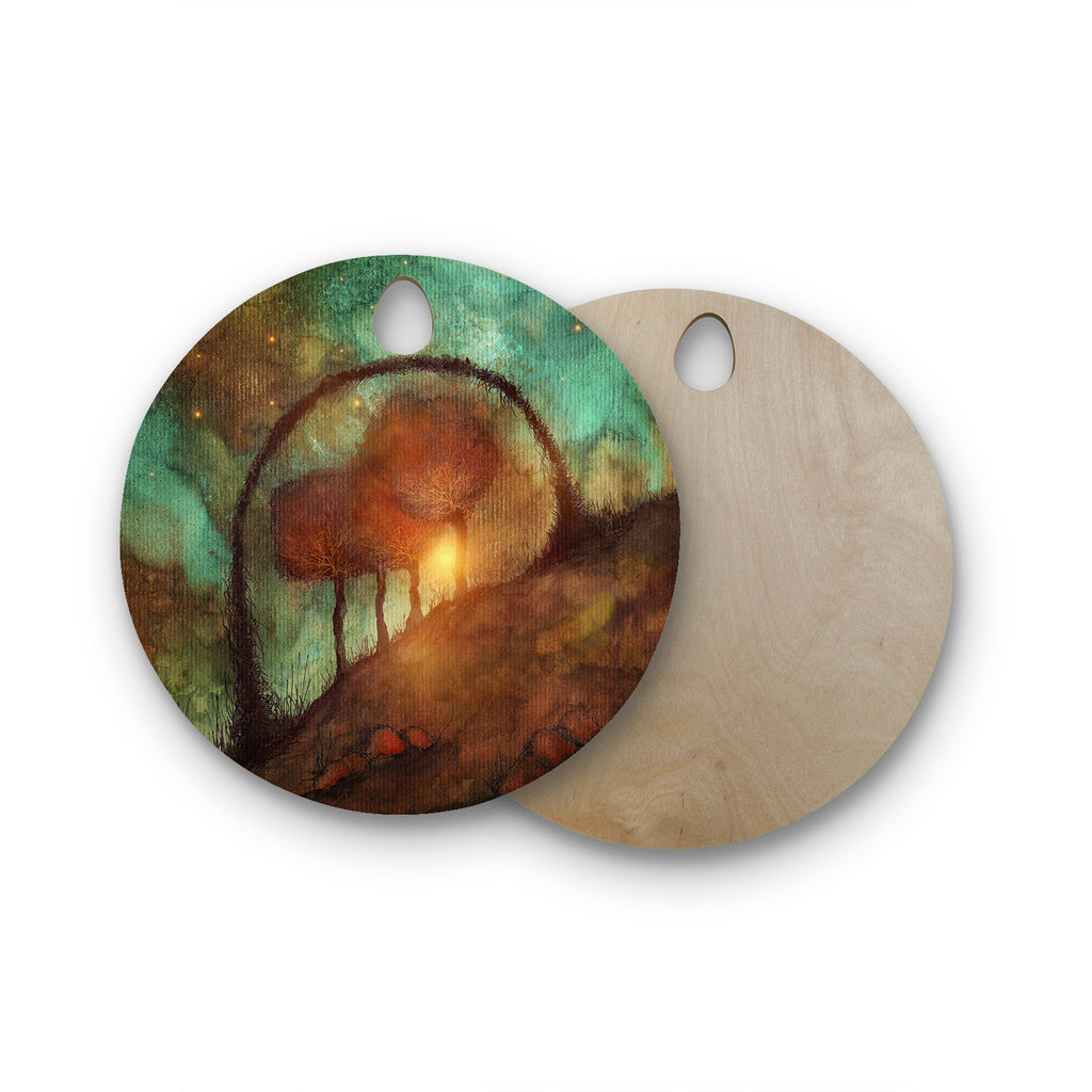 Track 28 Sunset And Dreams Ii Round Wooden Cutting Board By Viviana Gonzalez Kess Inhouse