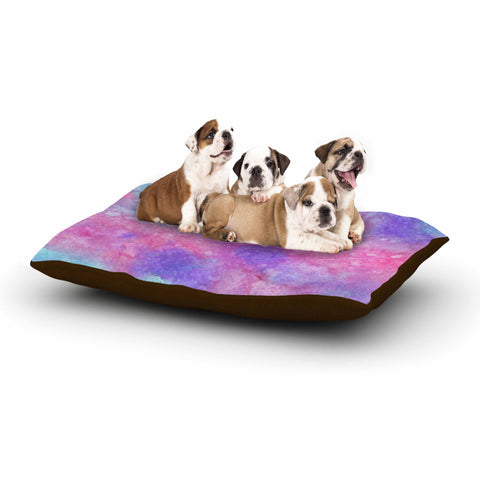 "Viviana Gonzalez ""Ink Play - Abstract 02"" Purple Gray Geometric Contemporary Vector Digital Dog Bed"
