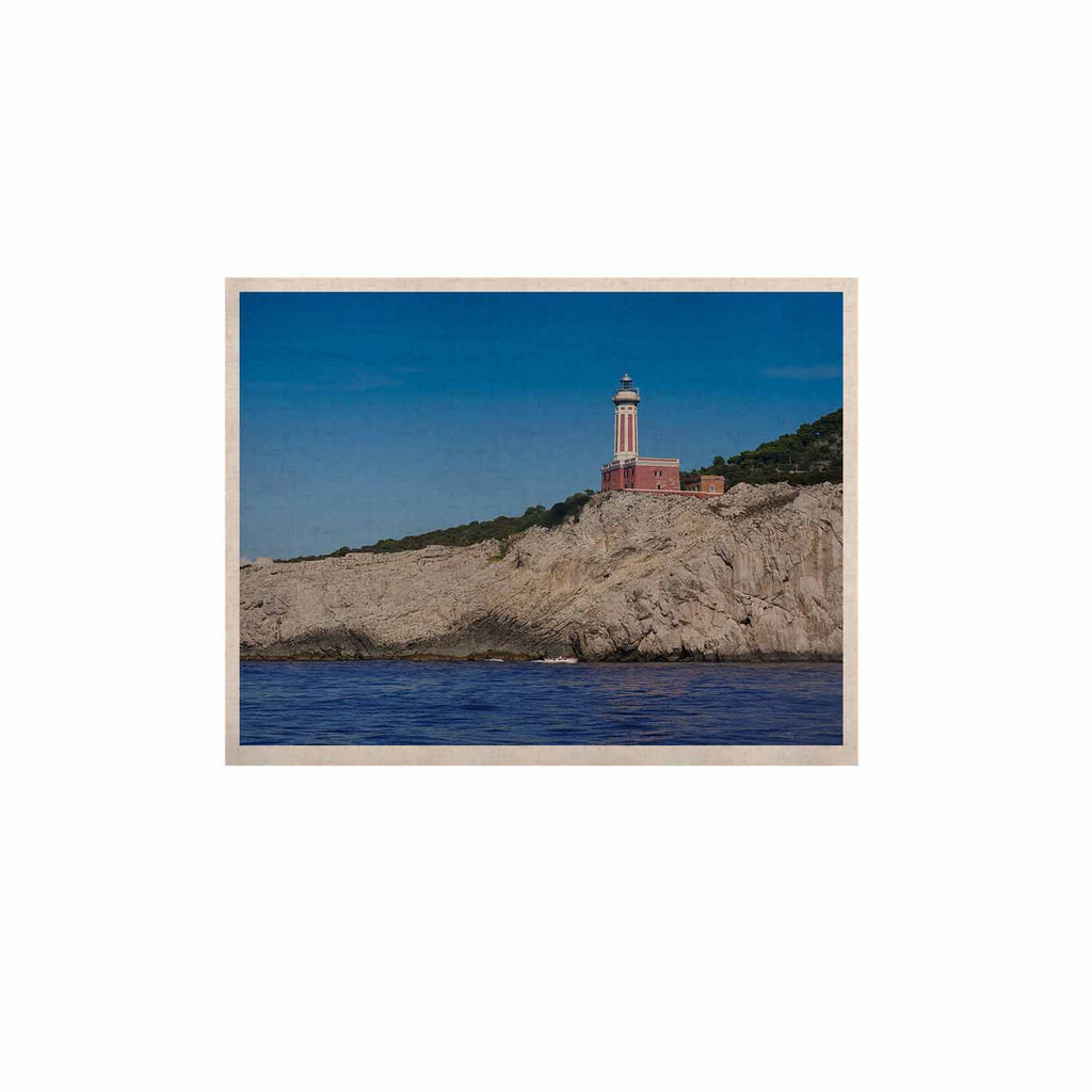 "Violet Hudson ""Happy Lighthouse"" Blue Coastal KESS Naturals Canvas (Frame not Included) - KESS InHouse  - 1"