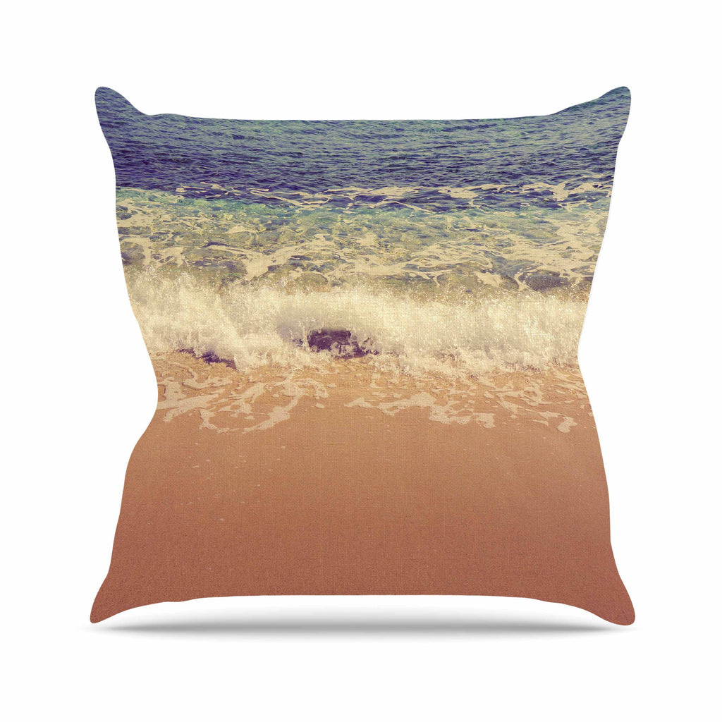 "Violet Hudson ""Crashing Waves"" Beach Coastal Throw Pillow - KESS InHouse  - 1"