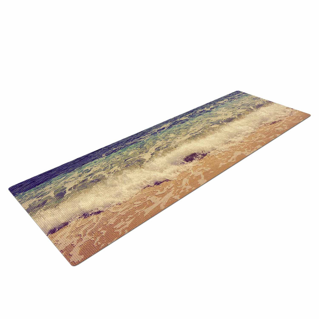 "Violet Hudson ""Crashing Waves"" Beach Coastal Yoga Mat - KESS InHouse  - 1"