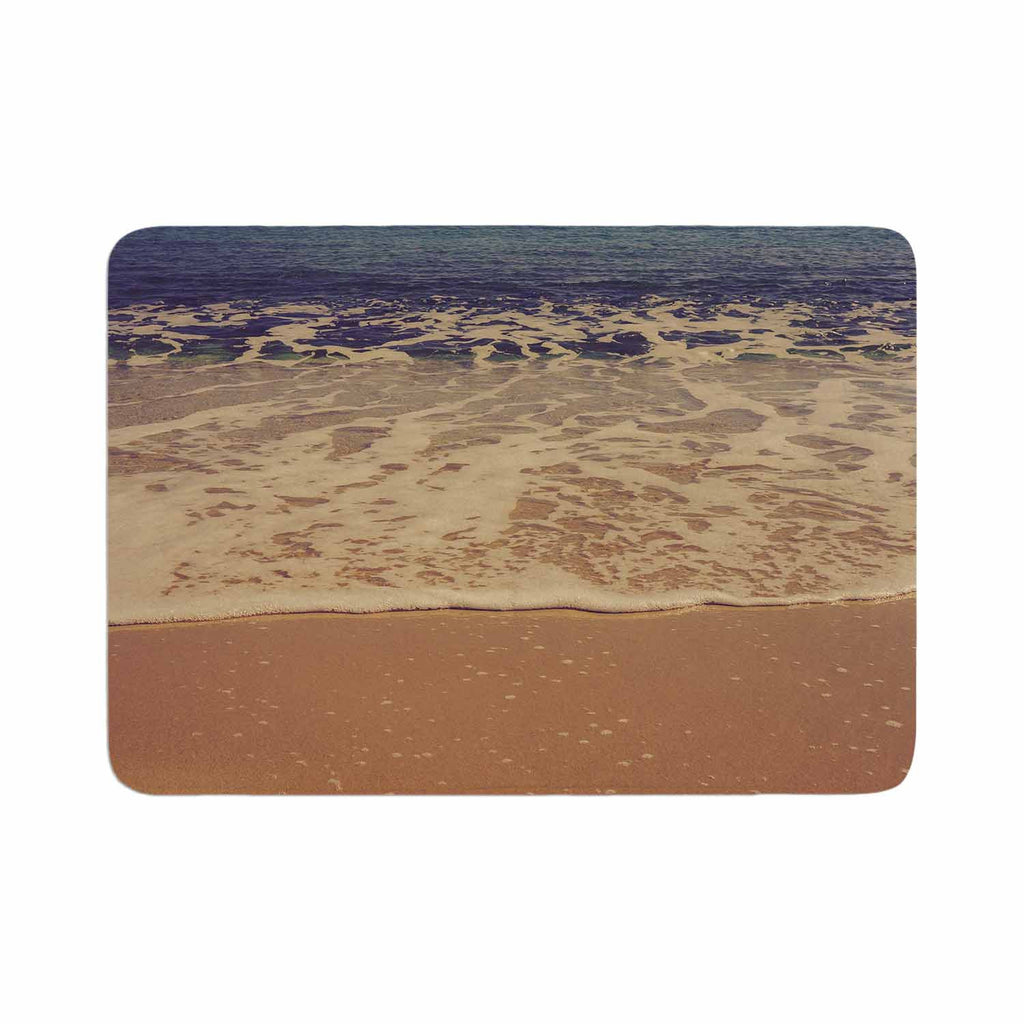 "Violet Hudson ""Ombre Beach"" Brown Blue Memory Foam Bath Mat - KESS InHouse"