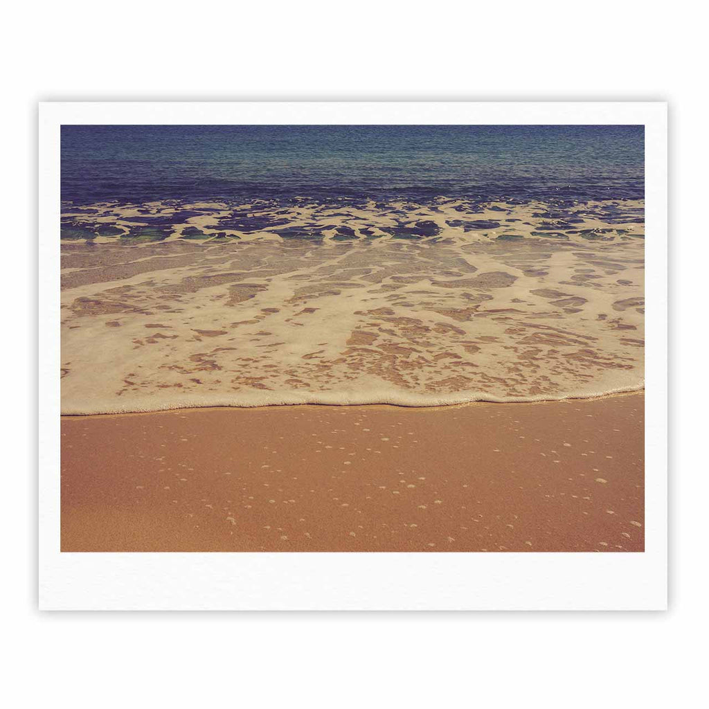 "Violet Hudson ""Ombre Beach"" Brown Blue Fine Art Gallery Print - KESS InHouse"