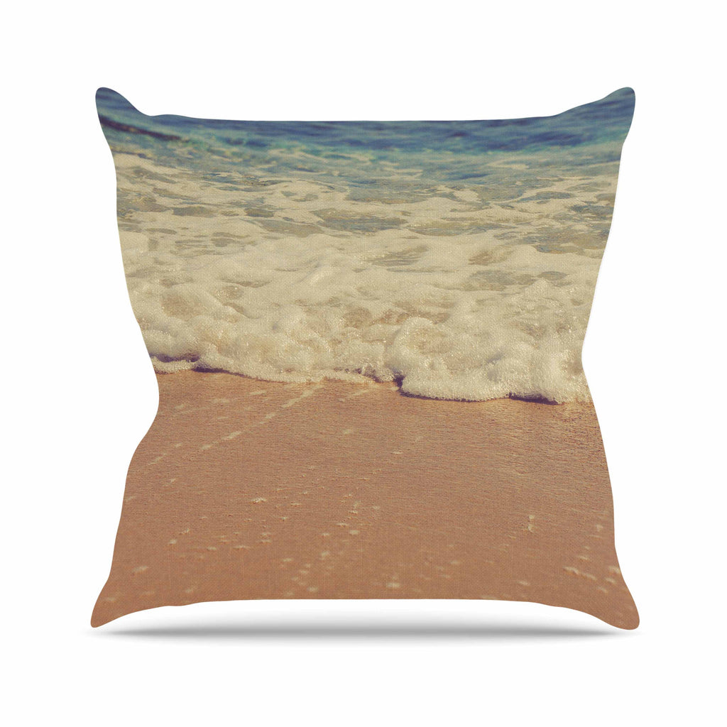 "Violet Hudson ""Sandy"" Brown Coastal Outdoor Throw Pillow - KESS InHouse  - 1"