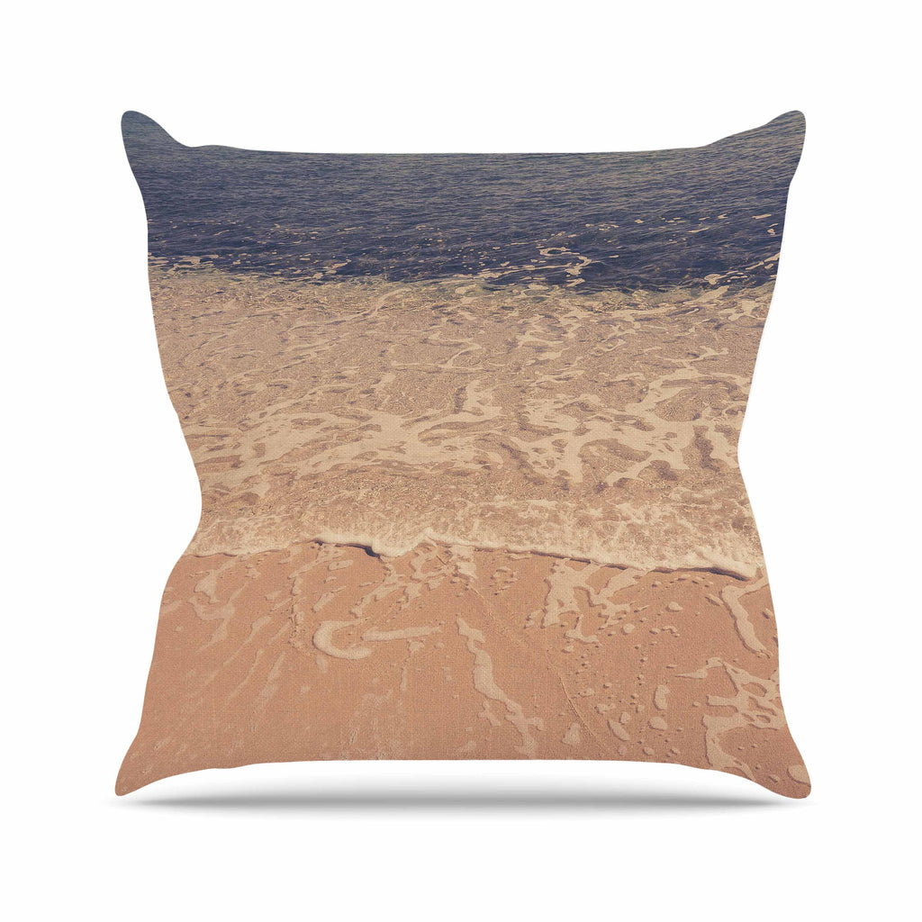 "Violet Hudson ""Crystal Water"" Brown Tan Throw Pillow - KESS InHouse  - 1"