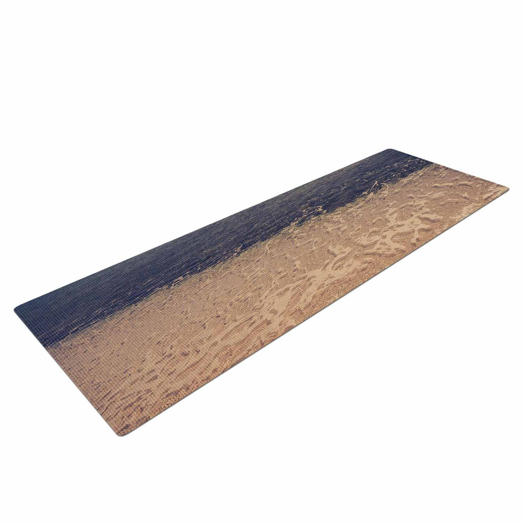"Violet Hudson ""Crystal Water"" Brown Tan Yoga Mat - KESS InHouse  - 1"