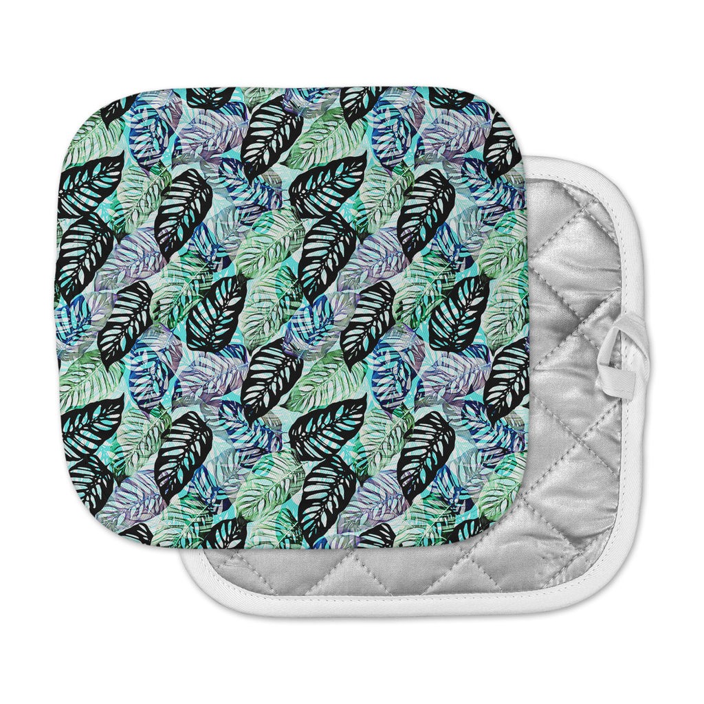 "Victoria Krupp ""Tropical Leaves"" Green Nature Pot Holder"
