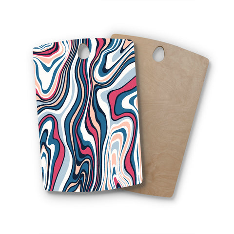 "Victoria Krupp ""Gems Wave ""  Rectangle Wooden Cutting Board"
