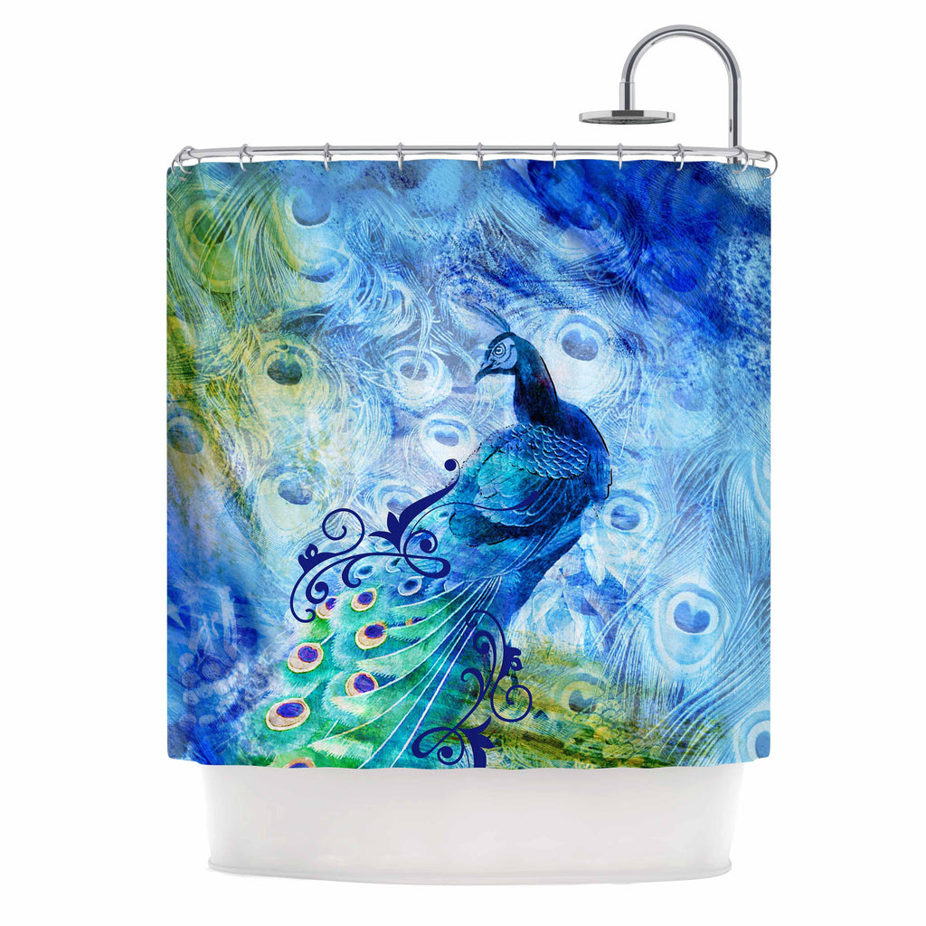 Blue Peacock By Victoria Krupp Shower Curtain