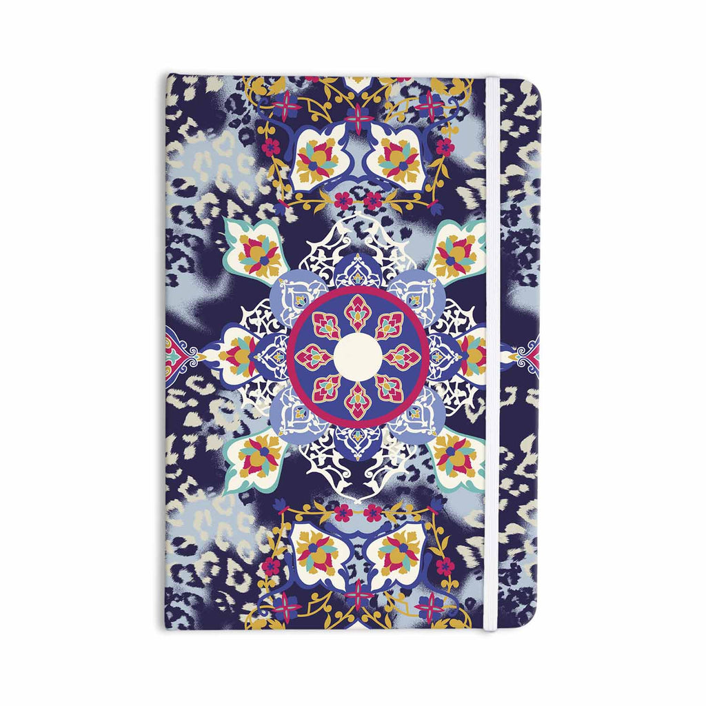 "Victoria Krupp ""Eastern Medallion"" Blue Multicolor Vector Everything Notebook - KESS InHouse  - 1"