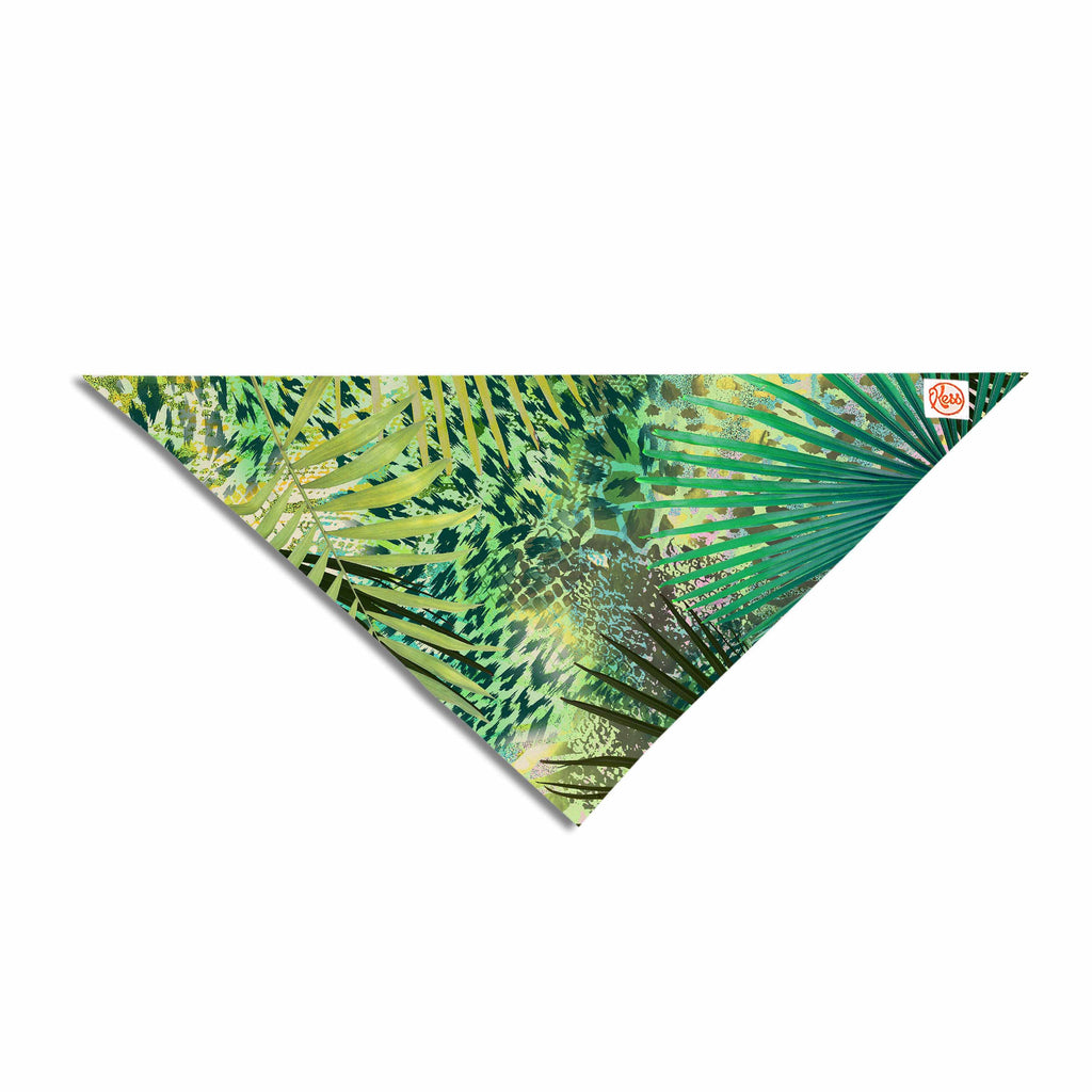 "Victoria Krupp ""Animal Jungles"" Green Teal Digital Pet Bandana"