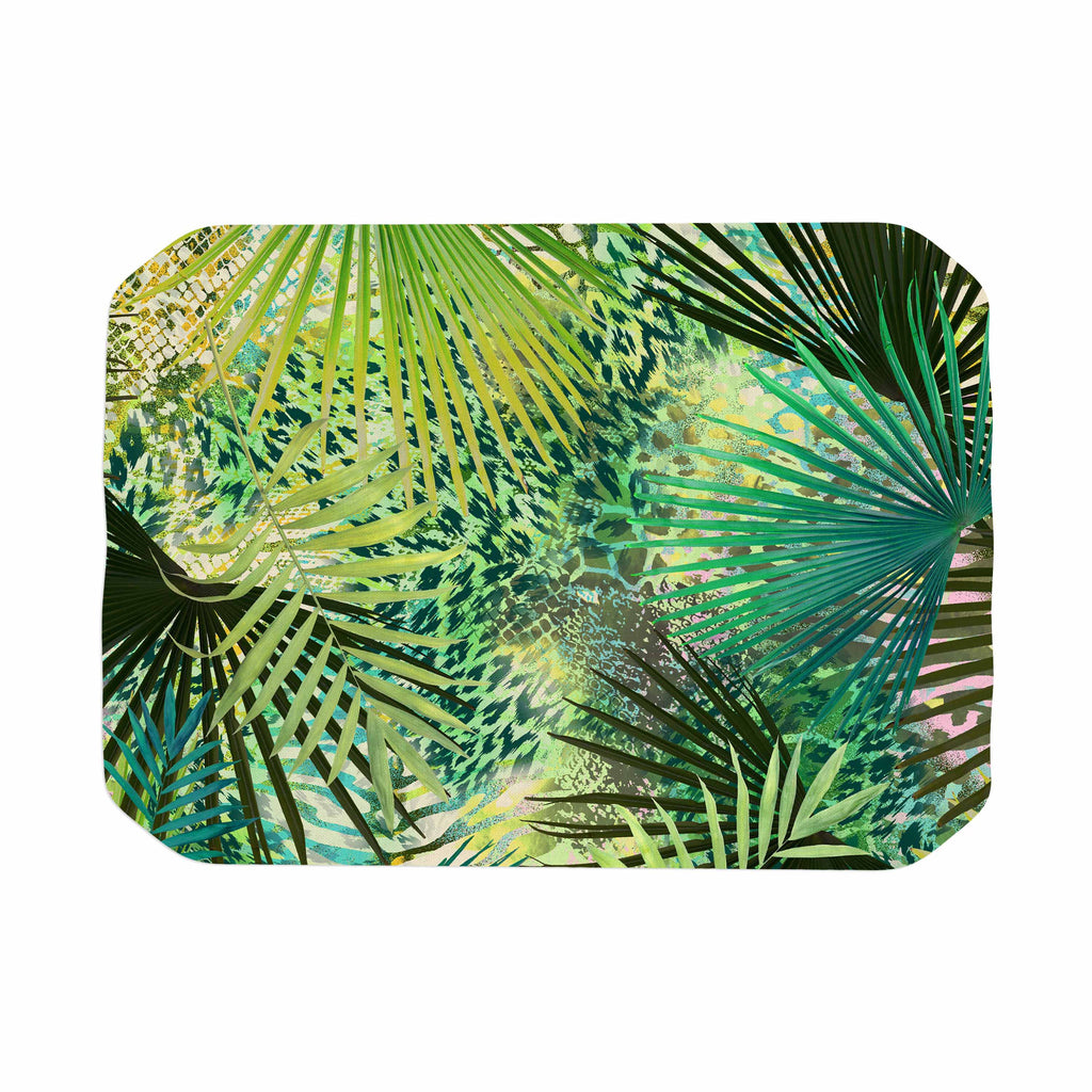 "Victoria Krupp ""Animal Jungles"" Green Teal Digital Place Mat"